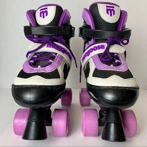 Mongoose Girl's Quad Roller Skates Size 5 to 8
